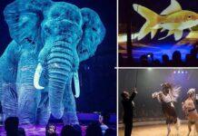 Circo usa hologramas en lugar de animales reales