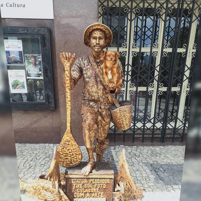 Estatua pescador