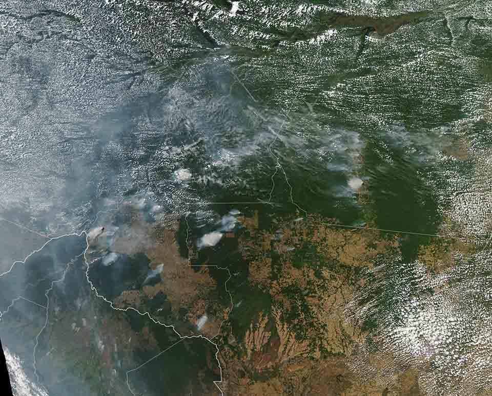 Amazonas imagen de la NASA