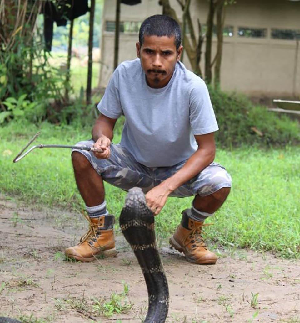 Hombre y serpiente