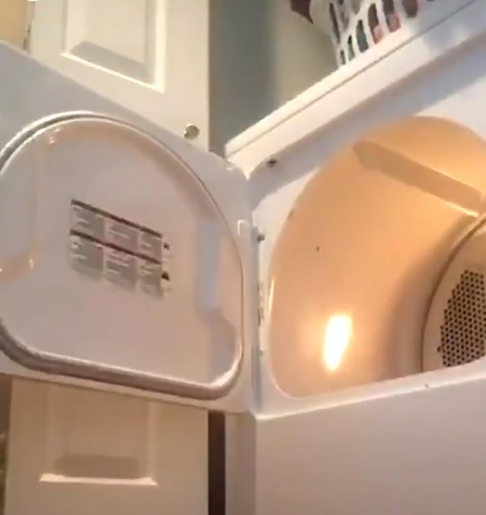 Secadora de ropa abierta