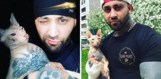 Gato tatuado salta de automóvil para escapar