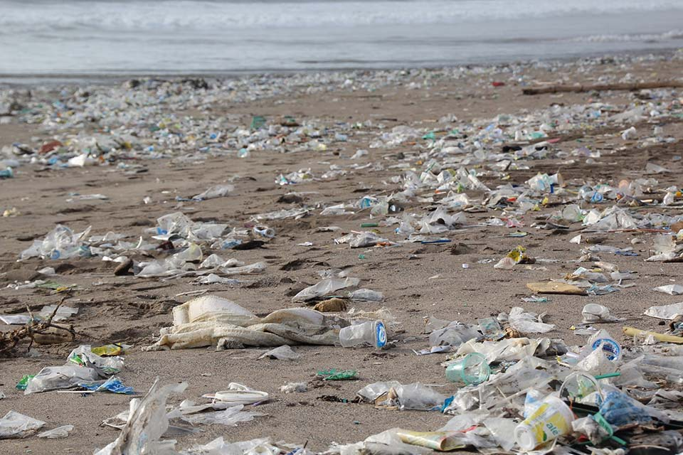 Residuos en la playa