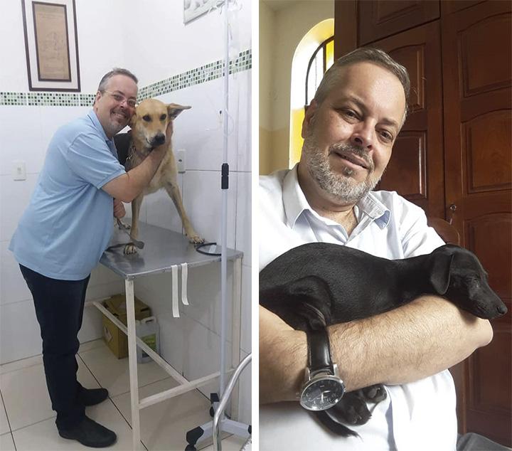 Sacerdote rescata perros