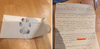 Chicos escriben carta emotiva al vecino para pasear a su perro
