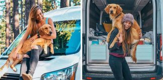 Mujer terminó con su novio para viajar en su furgoneta con su perrita