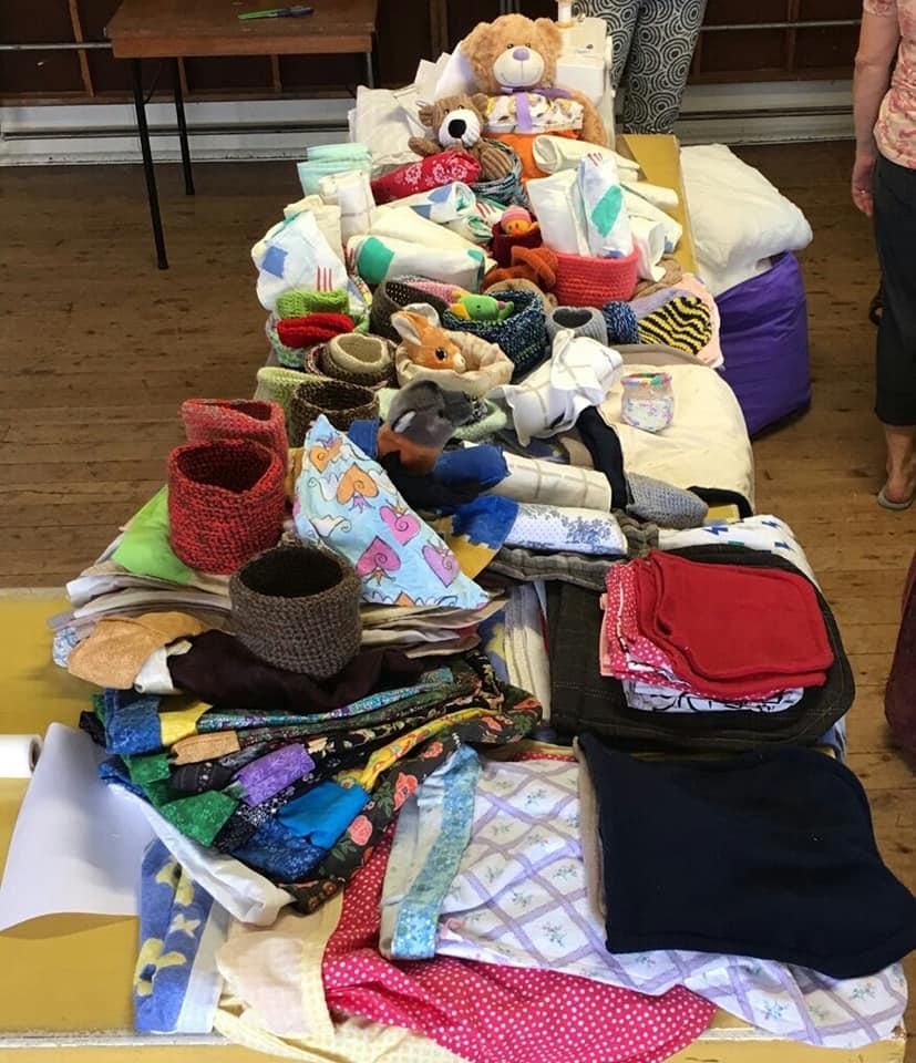 artesanos y tejedores sus Donaciones
