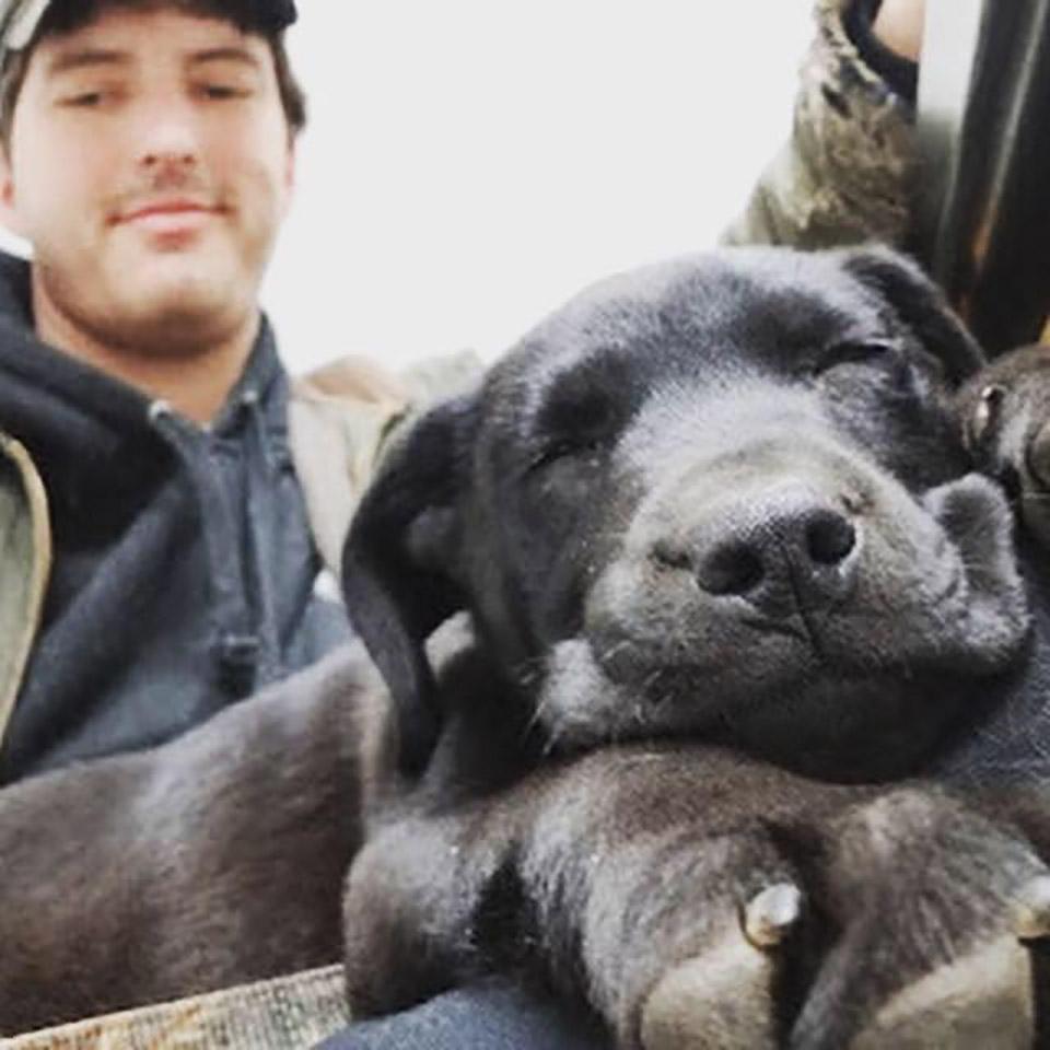 Hombre y perrito sordo son inseparables