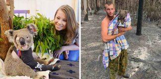 Imágenes de animales que han sido salvados de los incendios en Australia