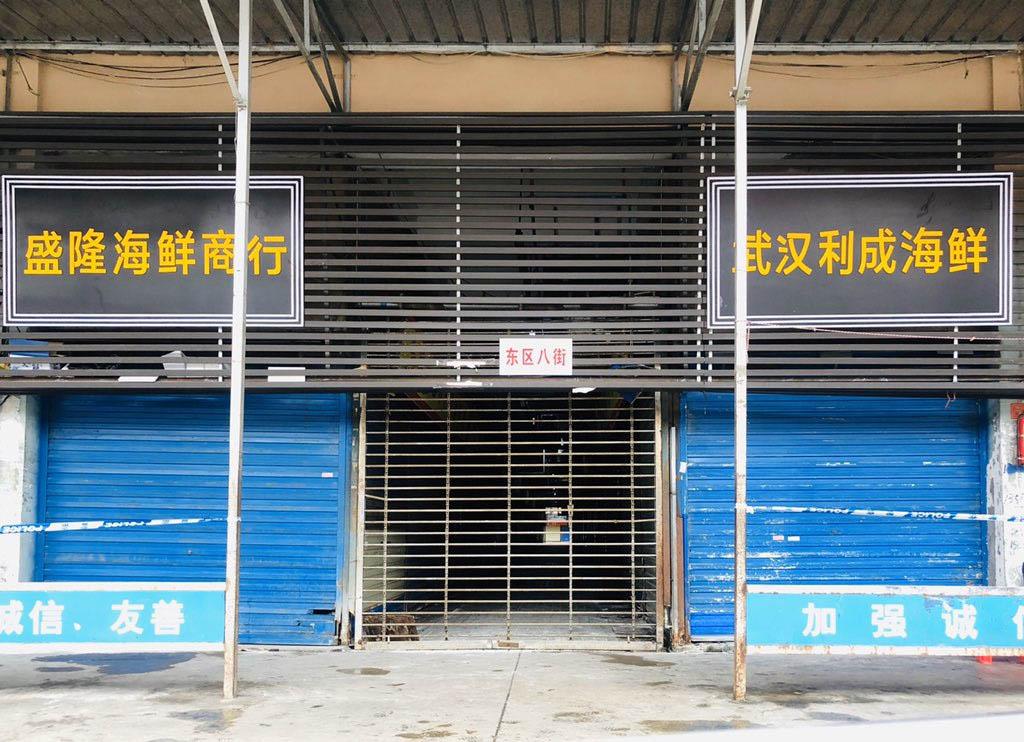 Mercado chino cerrado