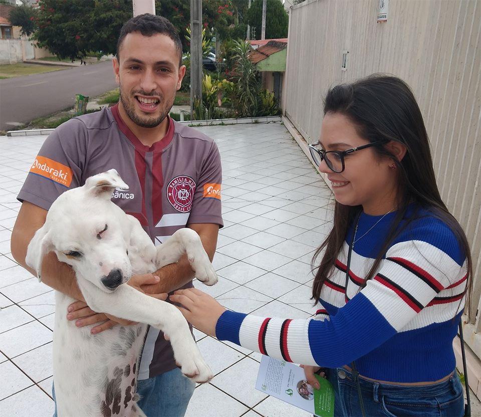 Perro callejero encuentra a su familia