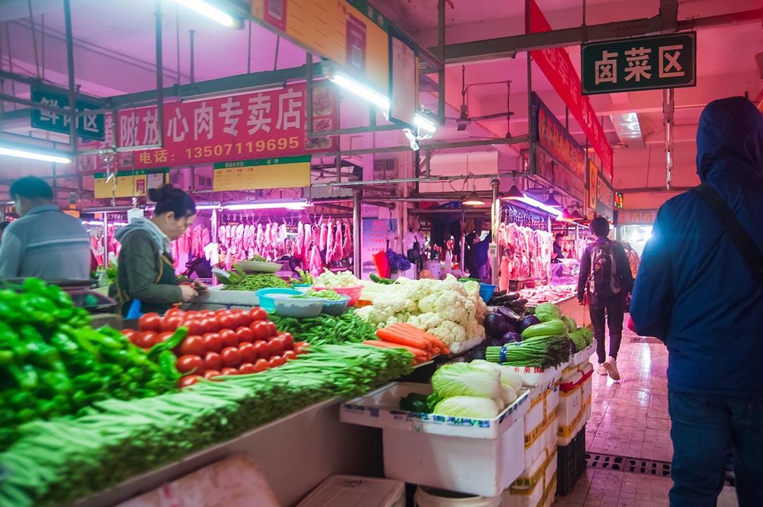 Frutas verduras mercado Wuhan