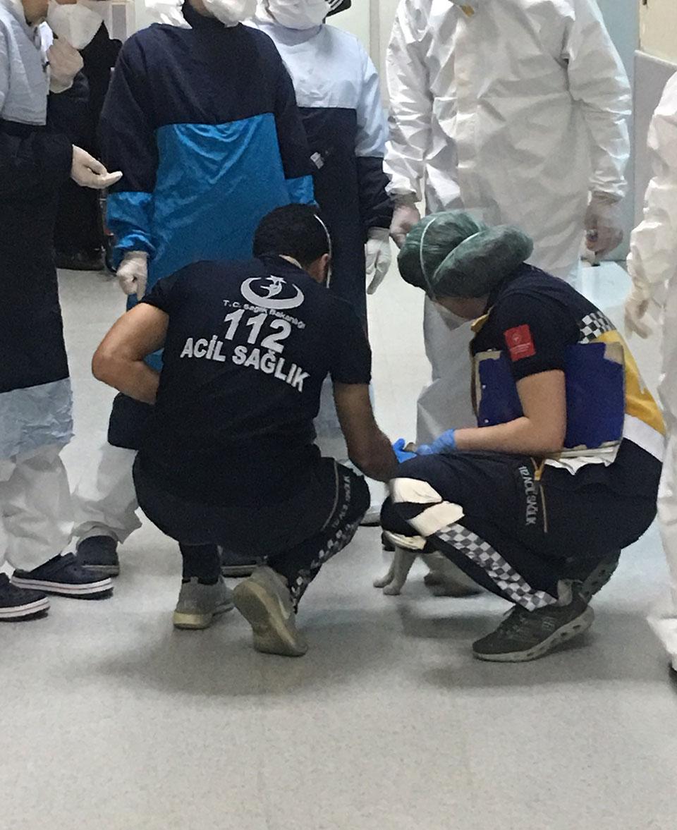 Médicos ayudando