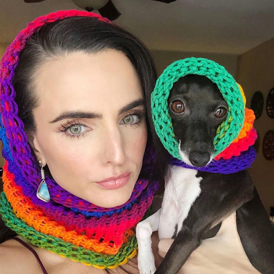 Perro y su madre con enfermedad cronica