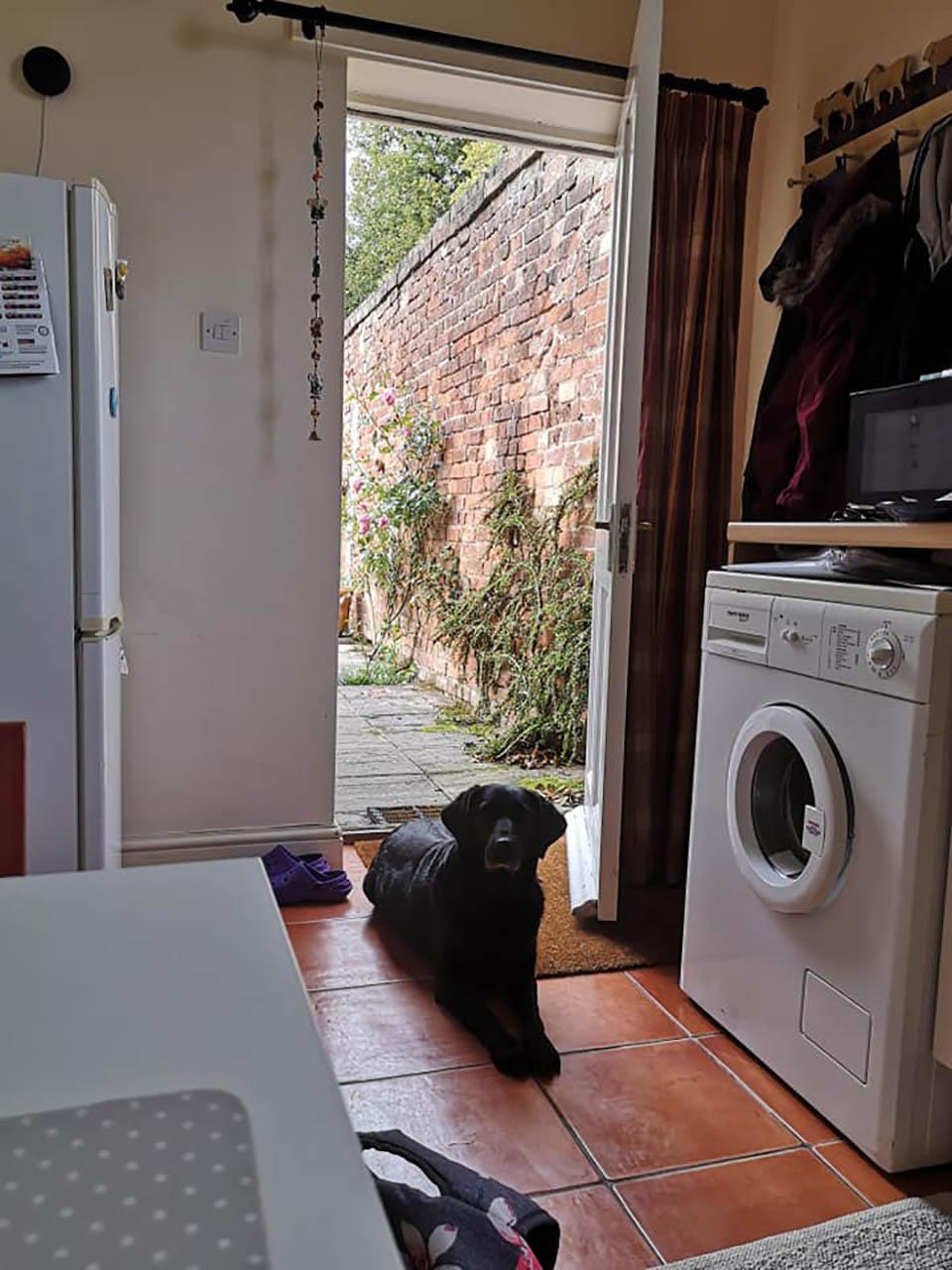Edith en la cocina