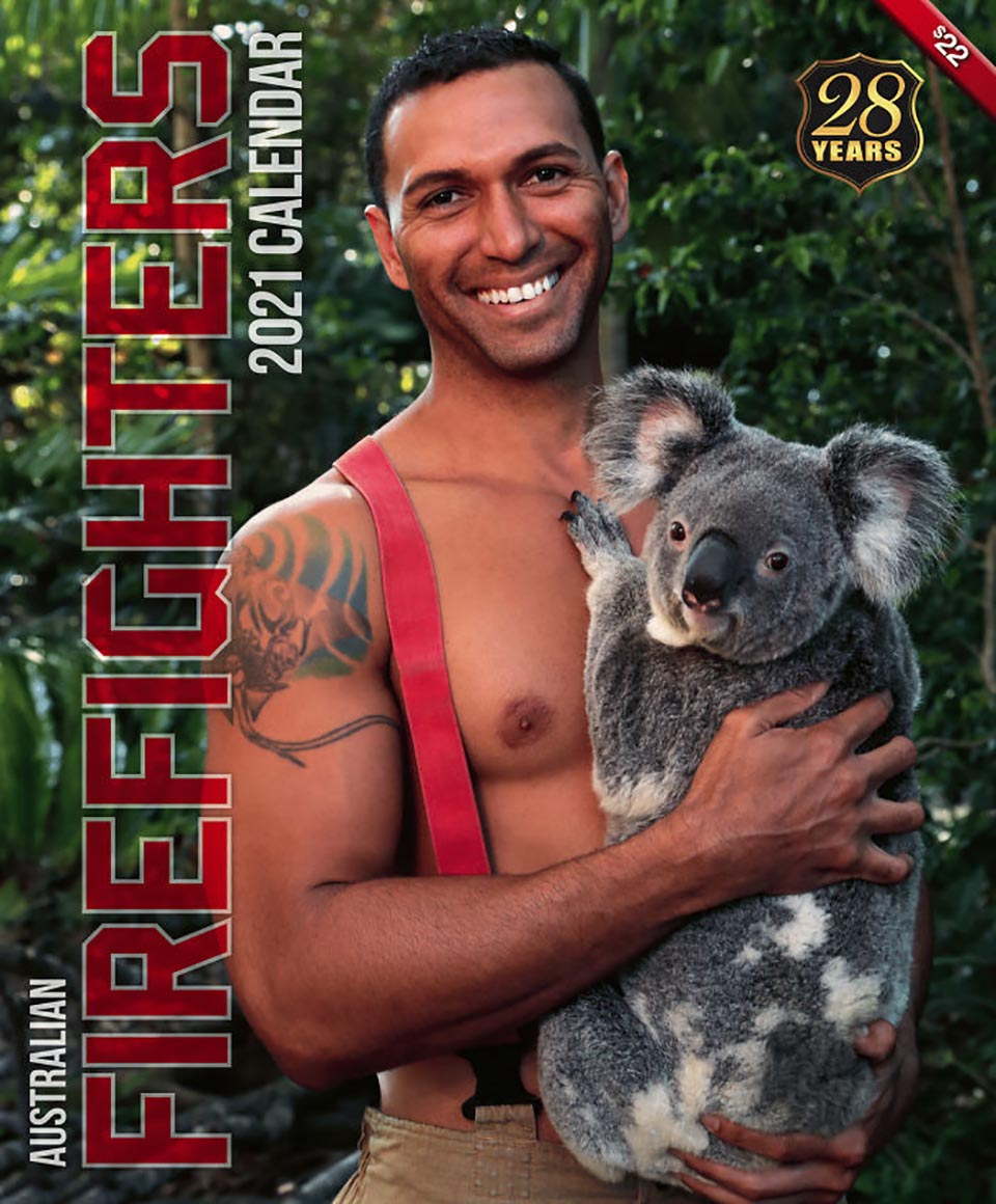 Bombero australiano y Koala