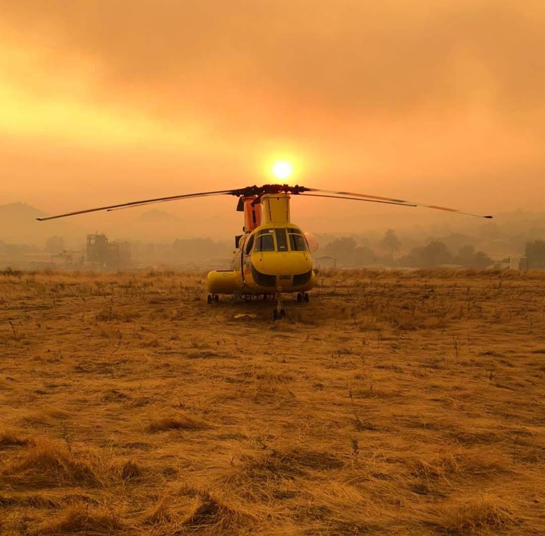 Helicóptero incendios