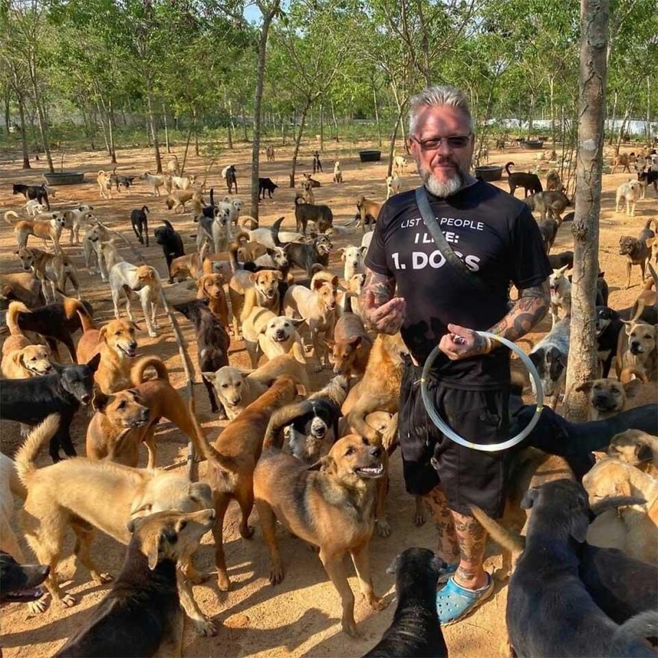 Refugio de animales tailandés