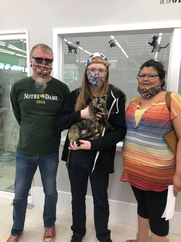 Gatita y su nueva familia